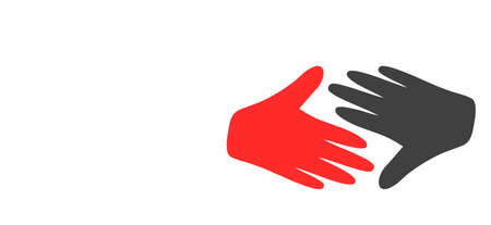 Fair trade handshake icon on a white background. Isolated fair trade handshake symbol with flat style. Stock Illustratie