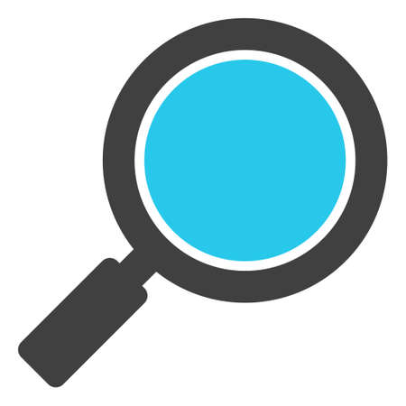 Search loupe icon on a white background. Isolated search loupe symbol with flat style.