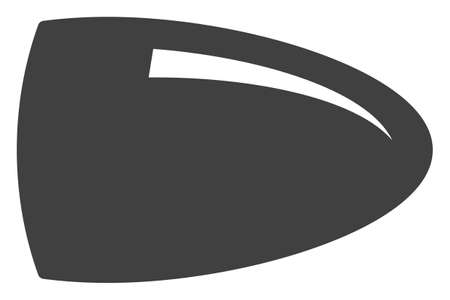 Bullet icon on a white background. Isolated bullet symbol with flat style.