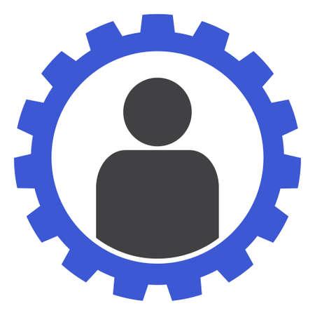 Customer setup gear icon on a white background. Isolated customer setup gear symbol with flat style. 版權商用圖片
