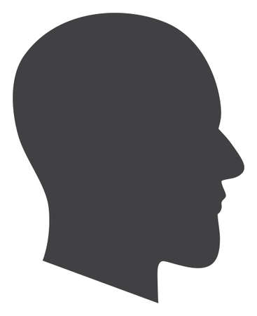 Gentleman profile icon on a white background. Isolated gentleman profile symbol with flat style.