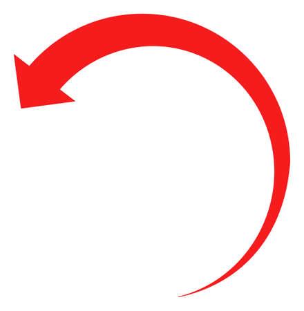 Rotate backward icon on a white background. Isolated rotate backward symbol with flat style.