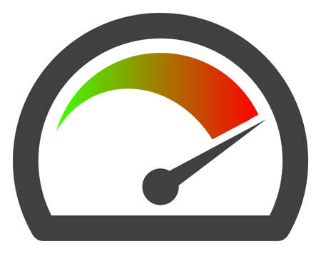 Speed gauge icon on a white background. Isolated speed gauge symbol with flat style.  イラスト・ベクター素材