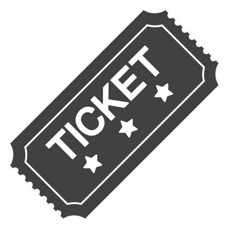 Ticket icon on a white background. Isolated ticket symbol with flat style. Illustration
