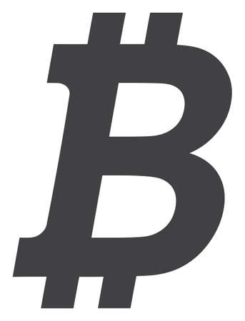 Bitcoin icon on a white background. Isolated bitcoin symbol with flat style. Ilustracja