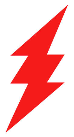 Electric spark icon on a white background. Isolated electric spark symbol with flat style. Ilustração