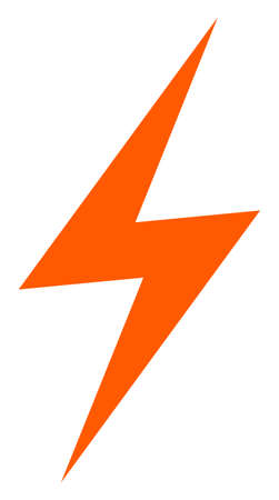 Electric strike icon on a white background. Isolated electric strike symbol with flat style.
