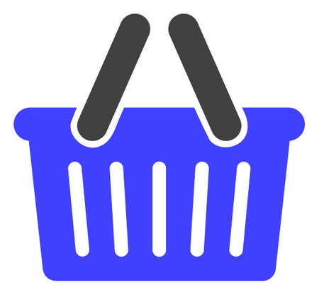 Shopping basket icon on a white background. Isolated shopping basket symbol with flat style.