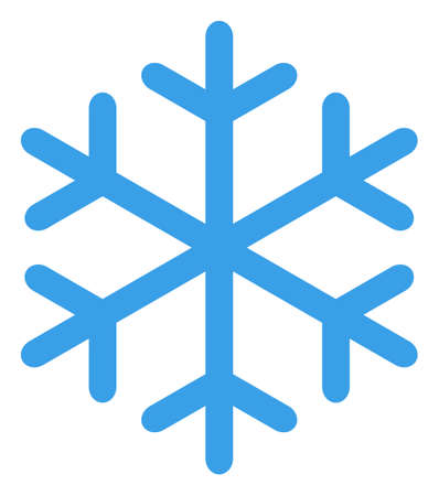 Snowflake icon on a white background. Isolated snowflake symbol with flat style. 免版税图像