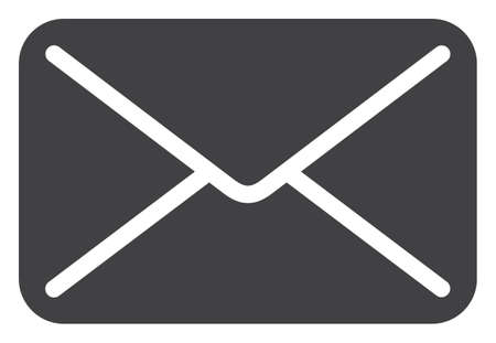Mail icon on a white background. Isolated mail symbol with flat style. Illustration