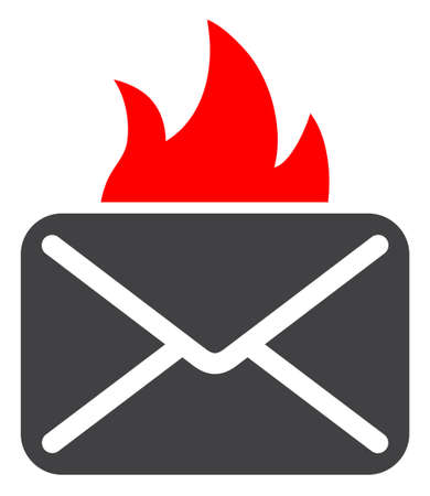 Hot mail icon on a white background. Isolated hot mail symbol with flat style.