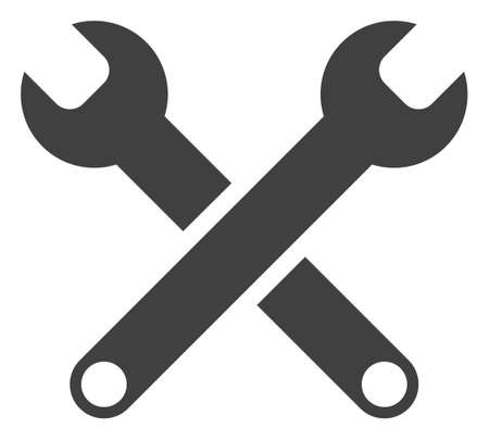 Spanners icon on a white background. Isolated spanners symbol with flat style. Illustration