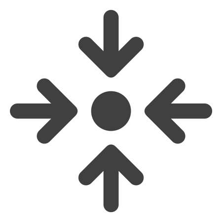 Meeting point icon on a white background. Isolated meeting point symbol with flat style.