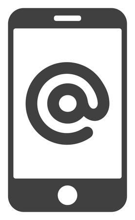 Smartphone address icon on a white background. Isolated smartphone address symbol with flat style. Ilustração