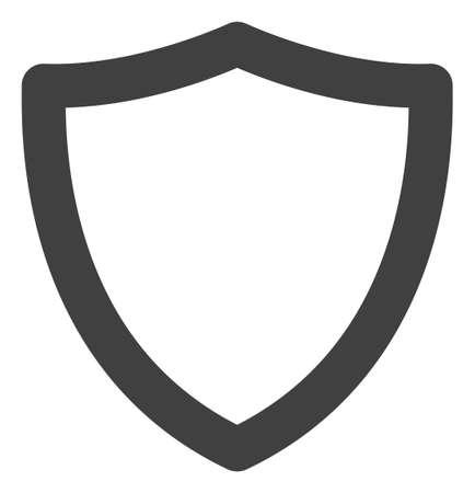 Shiled icon on a white background. Isolated shiled symbol with flat style.
