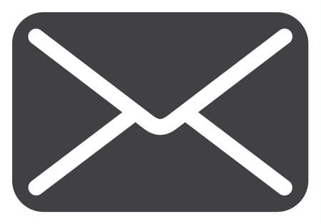 Letter icon on a white background. Isolated letter symbol with flat style.