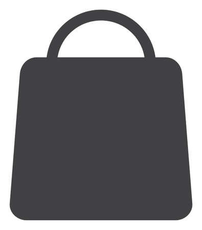 Shopping bag icon on a white background. Isolated shopping bag symbol with flat style. Stock Illustratie