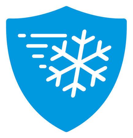 Icono de protección contra heladas sobre un fondo blanco. Símbolo de protección contra heladas aislado con estilo plano.