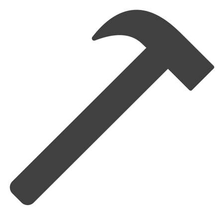 Hammer tool icon on a white background. Isolated hammer tool symbol with flat style.