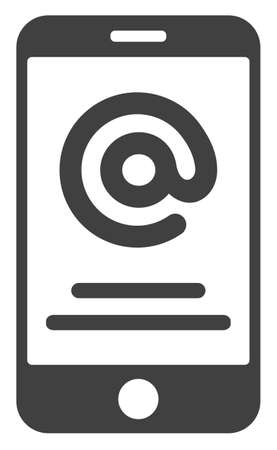 Smartphone address info icon on a white background. Isolated smartphone address info symbol with flat style. Ilustração