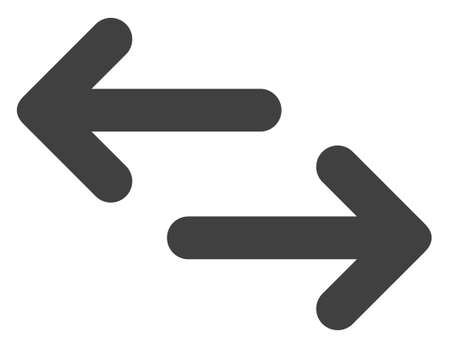 Exchange arrows icon on a white background. Isolated exchange arrows symbol with flat style.