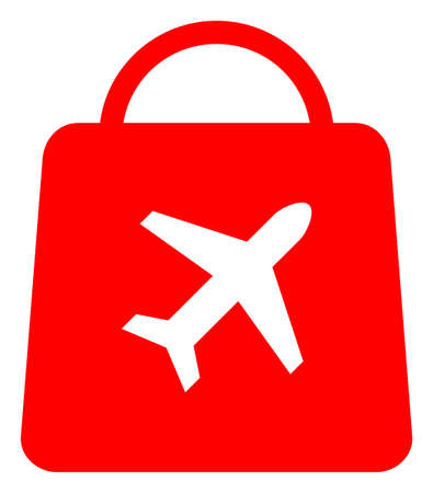 Airport shopping icon on a white background. Isolated airport shopping symbol with flat style.