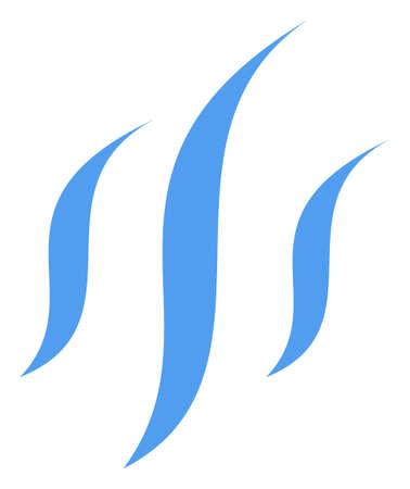 Vapor icon on a white background. Isolated vapor symbol with flat style. Illustration