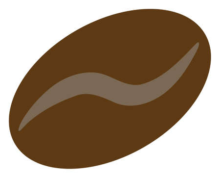 Coffee bean icon on a white background. Isolated coffee bean symbol with flat style.