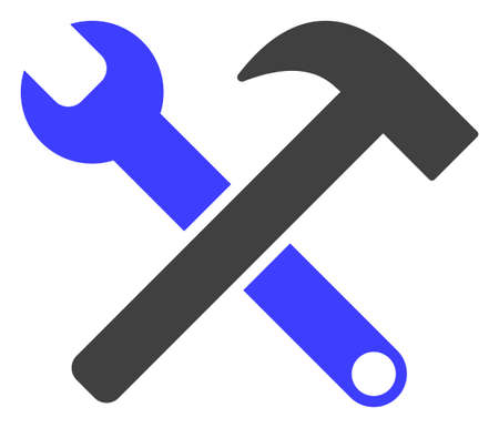 Service tools icon on a white background. Isolated service tools symbol with flat style.