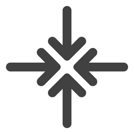 Collapse arrows icon on a white background. Isolated collapse arrows symbol with flat style. Illustration