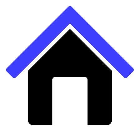 Home-Symbol auf weißem Hintergrund. Isoliertes Heimsymbol mit flachem Stil.