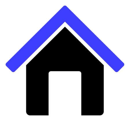 Ikona domu na białym tle. Na białym tle symbol domu z płaski.