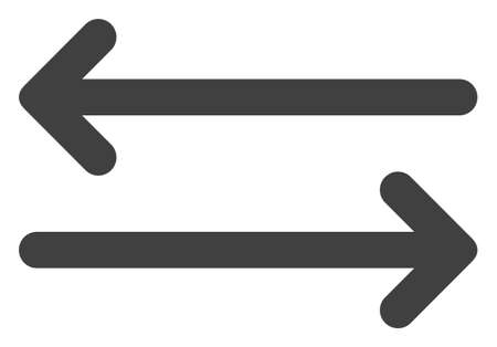 Flip arrows horizontally icon on a white background. Isolated flip arrows horizontally symbol with flat style.