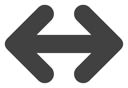 Exchange arrows horizontally icon on a white background. Isolated exchange arrows horizontally symbol with flat style.