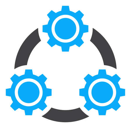 Gear planetary transmission v2 icon on a white background. Isolated gear planetary transmission v2 symbol with flat style. Stock Photo