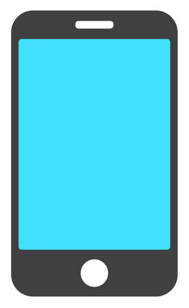 Phone screen icon on a white background. Isolated phone screen symbol with flat style.