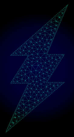 Polygonal electric spark illustration with quick speed effect. Abstract mesh lines, triangles and points on dark background with electric spark designed for modern abstract with symbols of speed,