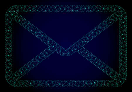 Mesh letter polygonal illustration. Abstract mesh lines, triangles and points on dark background with letter. Wire frame 2D polygonal line network in vector format on a dark blue background.