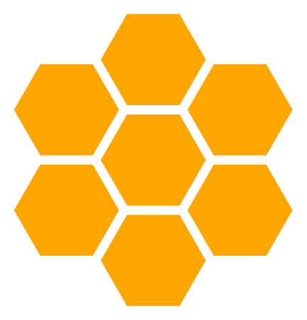 Honeycombs vector icon symbol. Flat pictogram is isolated on a white background. Honeycombs pictogram designed with simple style. 矢量图像
