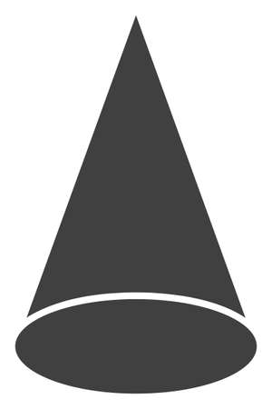 Cone figure vector icon symbol. Flat pictogram is isolated on a white background. Cone figure pictogram designed with simple style. Stok Fotoğraf - 127449415