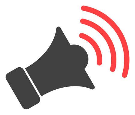 Symbole d'icône vecteur mégaphone. Le pictogramme plat est isolé sur fond blanc. Pictogramme de mégaphone conçu avec un style simple.