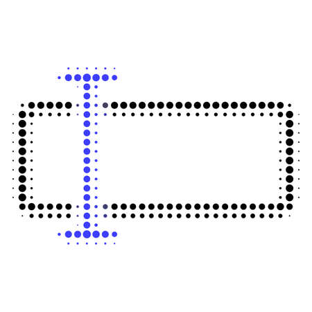 Text field halftone dotted icon. Halftone array contains circle elements. Vector illustration of text field icon on a white background.