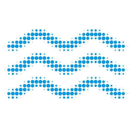 Water surface halftone dotted icon. Halftone pattern contains round points. Vector illustration of water surface icon on a white background. Vecteurs