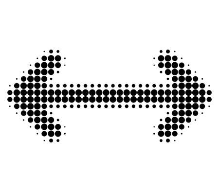 Swap arrows halftone dotted icon. Halftone pattern contains round points. Vector illustration of swap arrows icon on a white background. Vektorové ilustrace