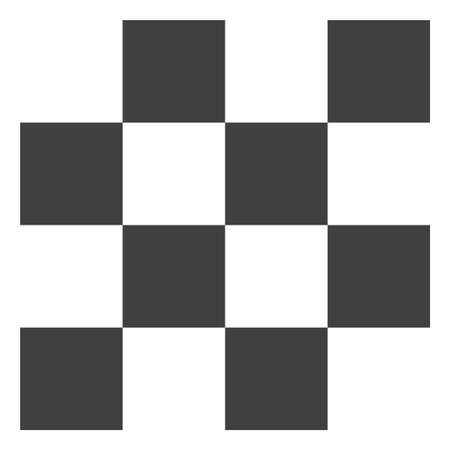 Chess cells vector icon symbol. Flat pictogram is isolated on a white background. Chess cells pictogram designed with simple style.