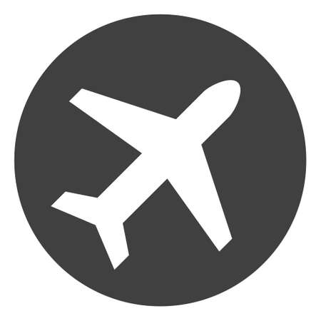 Airport vector icon symbol. Flat pictogram is isolated on a white background. Airport pictogram designed with simple style. Illustration