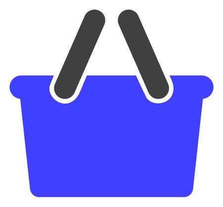 Shopping bag vector icon symbol. Flat pictogram is isolated on a white background. Shopping bag pictogram designed with simple style. Stock Illustratie