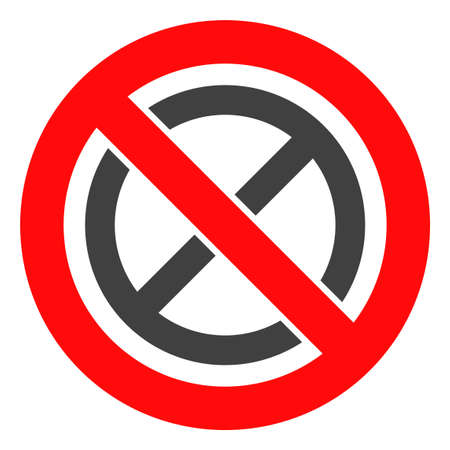 Forbidden ban vector icon symbol. Flat pictogram is isolated on a white background. Forbidden ban pictogram designed with simple style.