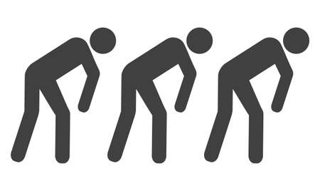 Slave people vector icon symbol. Flat pictogram is isolated on a white background. Slave people pictogram designed with simple style.