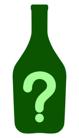 Wine question vector icon symbol. Flat pictogram is isolated on a white background. Wine question pictogram designed with simple style.